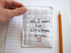 sweet sentiment...great gift tag or ornament...plus...one of my favorite holiday