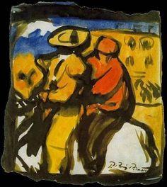 Pablo Picasso, Picador and Monosabio on ArtStack #pablo-picasso #art