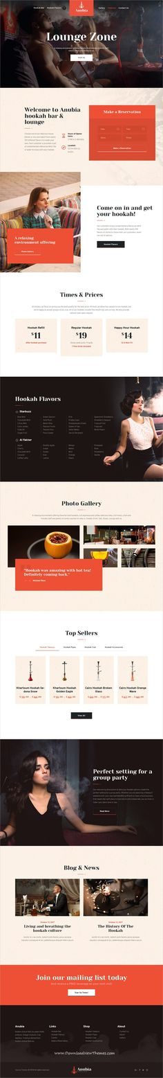 Anubia is clean and modern design 3in1 responsive #WordPress theme for #hookah bar, smoking lounge, #tobacco business or #pub, restaurant and #cafes website to live preview & download click on image or Visit 👆 #websitedesign
