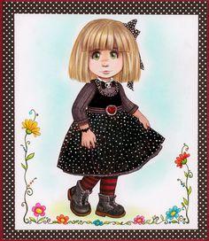 Girl with nice dress by Pilar Agrelo Studios Gothic Girls, Illustration Art, Illustrations, Art Studios, Cute Art, Wall Art Decor, Nice Dresses, Art Drawings, Whimsical