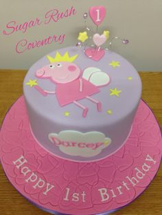 Peppa pig fairy cake Peppa Pig is often a Uk toddler animated television system sequence Peppa Pig Birthday Cake, Birthday Cake Girls, Peppa Pig Cakes, 3rd Birthday, Cupcakes, Cupcake Cakes, Pig Party, Novelty Cakes, Girl Cakes