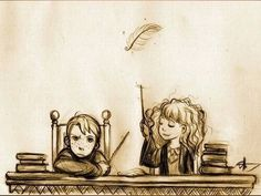 Leviosa lessons - Ron and Hermione