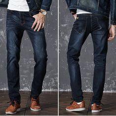 5d46d095466 Drizzte Mens Jeans Stretch Denim Jean Plus Size 32 34 35 36 38 40 42 44