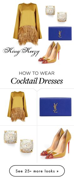 """COCKTAILS WITH MY GIRLS"" by arkiamiller on Polyvore featuring мода, Sofie D'hoore, Christian Louboutin, Kate Spade, Yves Saint Laurent, women's clothing, women, female, woman и misses"