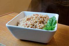 Easiest farro recipe I've made - tomato basil farro. A great intro-to-farro recipe.