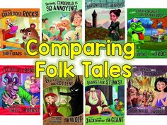 Comparing Fairy and Folk Tales using fractured fairy tales- FREEBIE graphic organizers to help students organize their comparison activity