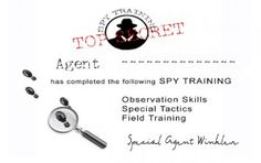 spy training certificate