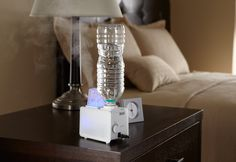 Travel Humidifier @ Sharper Image- I need this for my room! Gadgets And Gizmos, Cool Gadgets, Take My Money, Cool Inventions, Cool Items, Things To Know, Just In Case, Cool Stuff, Stuff To Buy