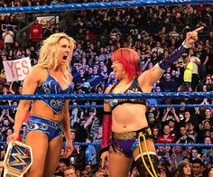Fastlane cleared up a lot about WrestleMania as AJ Styles locked up his WWE championship match against Shinsuke Nakamura, Asuka challenged Charlotte Flair for the SmackDown women's championship and Randy Orton became a Grand Slam champion. Wrestling Divas, Women's Wrestling, Wwe Raw Women, Wrestlemania 35, Wwe Female Wrestlers, Video Team, Wwe Girls, Wwe Champions, Raw Women's Champion