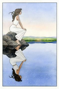 On the Shore. Pen, ink, watercolor on Arches 140 lb watercolor paper, 2013, Jonathan Day.  About 14 by 20 inches.
