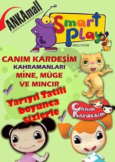 Canım kardeşim kahramanları Mine, Müge ve Mıncır yarıyıl tatili boyunca #ANKAmall'da sizlerle!