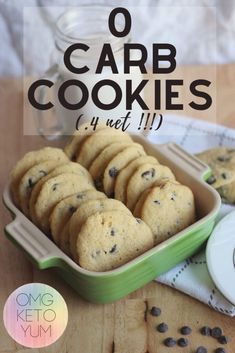 These low carb cookies are actually zero … Zero Carb Keto Chocolate Chip Cookies! These low carb cookies are actually zero carb cookies! Only net carbs per keto cookie! Keto Cookies, Keto Chocolate Chip Cookies, Cookies Soft, Chocolate Chocolate, Healthy Cookies, Chocolate Desserts, Cookies For Diabetics, Cookie Diet, Diabetic Cookies