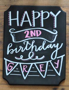 Girl Or Boy Birthday Chalkboard Art