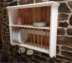 Country pine painted universal plate rack | Dish racks | Pinterest | Plate racks Pine and Paint plates & Country pine painted universal plate rack | Dish racks | Pinterest ...