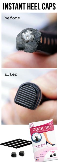 I need this for every pair of heels...finally! High heel caps - Quick fix for worn heel tips