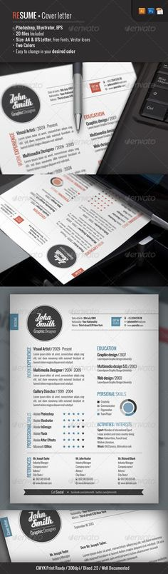 Print Templates - 2 Piece | Resume + Cover Letter | GraphicRiver