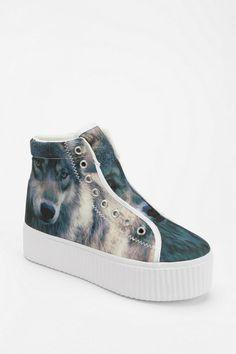 Jeffrey Campbell Hiya Wolf Flatform-Sneaker #urbanoutfitters