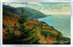 $3.29 - Acrylic Fridge Magnet: Canada. Nova Scotia. Cape Breton Island. Autumn