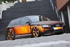 Schön geschnitzt: Audi A4 in Holz-Optik - Tuningsuche.de