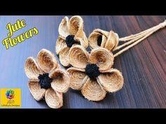 Diy Crafts - How to Make Jute Flower Twine Crafts, Decor Crafts, Diy Crafts, Diy Decoration, Twine Flowers, Diy Flowers, Flower Diy, Burlap Flower Tutorial, Diy Fleur