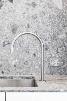 The graceful John Pawson tap by Obumex. Photo by Annick Vernimmen Photography.