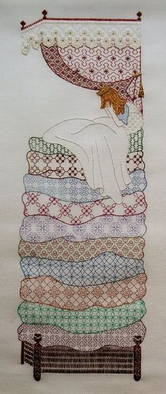 This is beautiful blackwork in colour