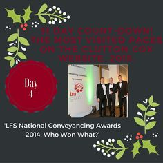 Day 4 of our 31 Day Countdown: LFS National Conveyancing Awards 2014: Who Won What?