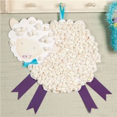 Popcorn Lamb Craft -- I love this!  Couple this with a simple writing activity for a great classrom activity that your kiddos would love!