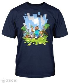 Minecraft is a game about breaking and placing blocks. Other activities and multiple gameplay modes add to the thrill of play. Show your love for Minecraft when you wear the Minecraft Adventure Youth T-Shirt. Minecraft T-shirt, Minecraft Outfits, Minecraft Gifts, Minecraft Clothes, T Shirt And Shorts, Tee Shirts, Old Navy T Shirts, T Shirt World, Branded T Shirts