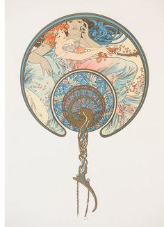 Alphonse Mucha, 'Le Vent Qui Passe…(The Fan),' , Rue Royale Fine Art