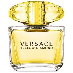 Versace Yellow Diamond Eau De Toilette Spray (£69) ❤ liked on Polyvore featuring beauty products, fragrance, versace, blossom perfume, flower perfume, versace fragrance and versace perfume