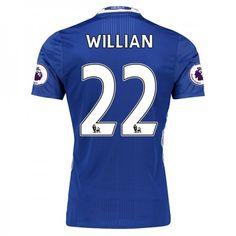 Chelsea 16-17 #Willian Borges da Silva 22 Hjemmebanesæt Kort ærmer,208,58KR,shirtshopservice@gmail.com