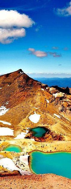 4. Tongariro National Park Tongariro National Park was the fourth national park established in the world. The active volcanic mountains Ruapehu, Ngauruhoe, and Tongariro are located in the centre of the park, New Zealand