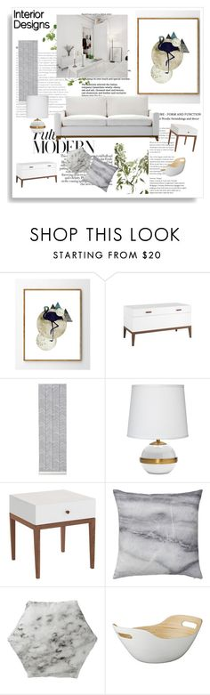 """""""Scandinavian Interior Design"""" by signaturenails-dstanley ❤ liked on Polyvore featuring interior, interiors, interior design, home, home decor, interior decorating, ferm LIVING, Jamie Young, Bloomingville and Lene Bjerre"""