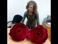 Большие цветы своими руками индивидуальное обучение в мастерской у Светл...