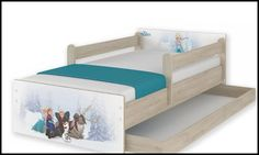 Disney children's bed Frozen-A – Kiddymill Magical Room, Childrens Desk, Mattress Frame, Bed With Drawers, How To Make Bed, Kid Beds, Cot, Kids Bedroom, Toddler Bed