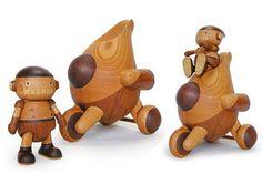 Os robôs de madeira de Takeji Nakagawa