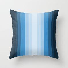 Jazzy Blues Throw Pillow by Lisa Argyropoulos - $20.00