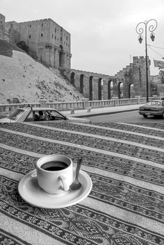 Citadel of Aleppo and cardamom-spiked coffee, Syria The Beautiful Country, Beautiful World, Syria Tourism, Aleppo City, Beautiful Arabic Words, Time Photography, Syrian Refugees, Islamic Architecture, This Is Us Quotes
