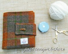 Handmade Rust Harris Tweed Crochet Hook Case Book Ideal Crafter's Gift Christmas Gift Traditional Gift Ready to Ship from UK Worldwide by JustSewYorkshire on Etsy