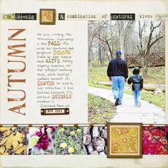 Fall Scrapbook Layout Ideas                               http://www.scrapbooksetc.com/theme/season/fall/fall-scrapbook-layout-ideas/?page=26