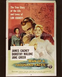 Man of a Thousand Faces 8x10 Movie Poster Photo James Cagney