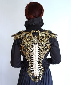 Victorian Ball Gowns, Steampunk, Design Textile, Or Noir, Back Pieces, Fantasy Dress, Fantasy Clothes, Cosplay, Character Outfits