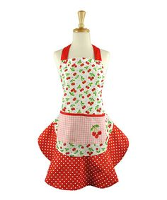 Another great find on #zulily! Cherry Toss Apron - Women by Design Imports #zulilyfinds