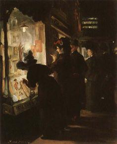 John Sloan (American, 1871-1951), 1907-8, Picture Shop Window