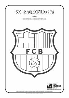 Cool Coloring Pages - Others / FC Barcelona logo / Coloring page with FC Barcelona logo