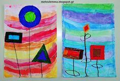 Με το βλέμμα στο νηπιαγωγείο και όχι μόνο....: Τα σχηματολούλουδά μας.Κολάζ και φύλλα εργασίας Blog, Painting, Painting Art, Paintings, Painted Canvas, Drawings