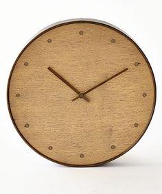 Barbara Barry for Global Views Wall Clock-Bleached Walnut Brown Wall Clocks, Best Wall Clocks, Clock Wall, Wall Art, Brown Home Decor, Bliss Home And Design, Modern Clock, Modern Wall, Wall Sculptures