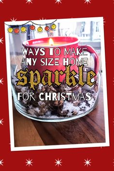 I am giving you a holiday décor tour of my home. Read on for ways to make any size home sparkle for Christmas! Come on in!