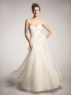 Nouvelle Amsale R102G This Amsale silk organza Aline ballgown ...